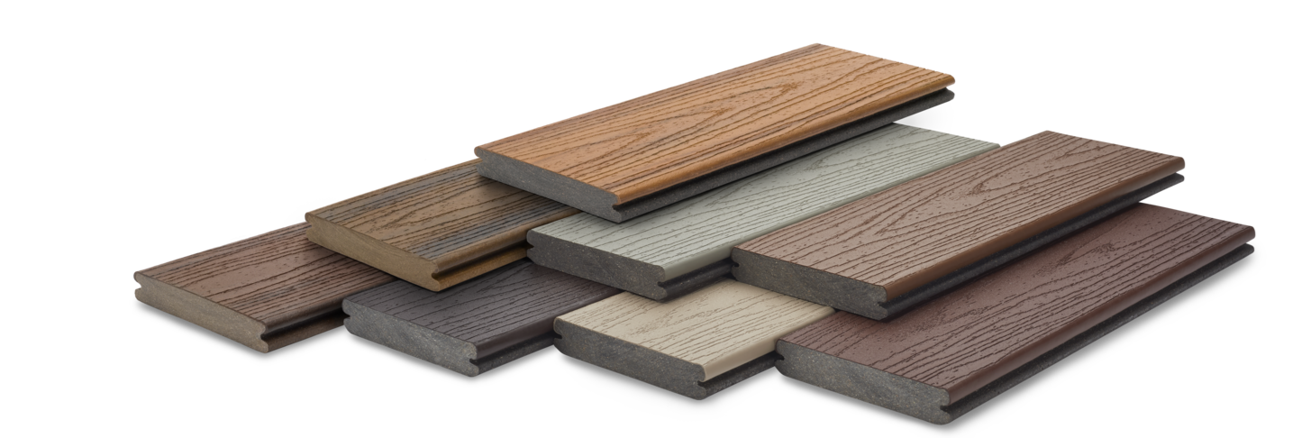 Trex composite deck board samples
